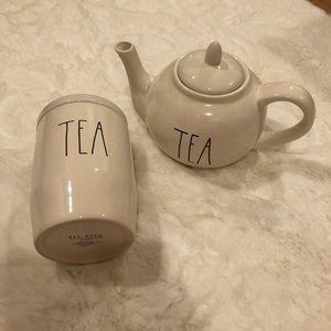Rae Dunn tea set
